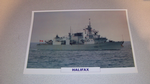 Halifax 1988 Canadian  warship framed picture